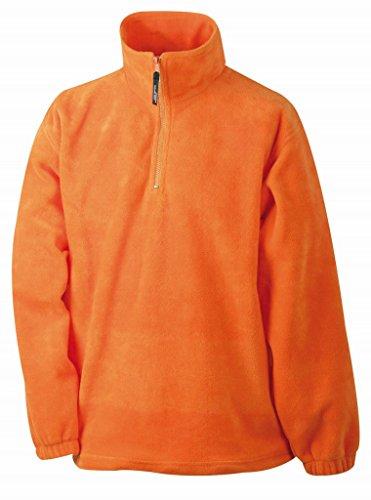Demi-zip en polaire polaire-homme-noir-taille :  s à xXL-demi-zip en polaire pour femme Orange - orange