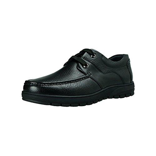 GRRONG Scarpe In Pelle Da Uomo Genuine Leather Business Leisure Nero Brown Black