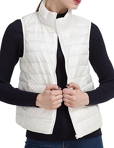 Belleshine Women's Winter Ultra Light Packable Weight Zipper Gilet Outwear