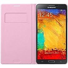 Samsung Wallet Flip - Funda para móvil Galaxy Note 3 (Incluye bolsillo interior para tarjeta), rosa