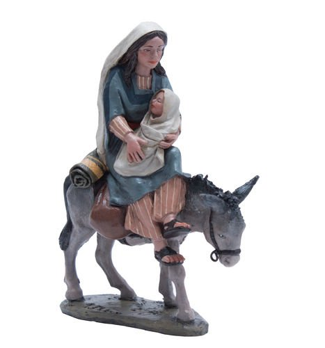 Triciclo Editores Dreirad Verlage Weihnachtskrippe Delprado J.L. Mai-Flucht nach Ägypten, Madonna mit Kind-bel097