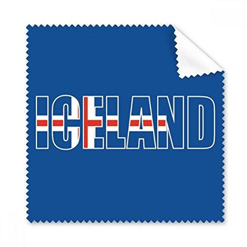 DIYthinker Island Land Flag Name Brillenputztuch-Reinigungstuch Telefon Screen Cleaner 5Pcs Geschenk Flag Telefon