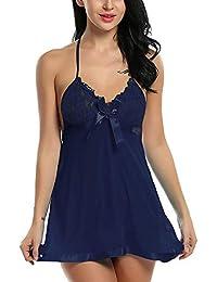 a0406cfed Billebon- Baby Doll Lingerie Sleepwear Dress for Women Ladies Girls  Nightwear with G