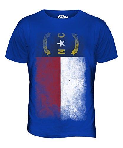 CandyMix Bundesstaat North Carolina Verblichen Flagge Herren T Shirt  Königsblau