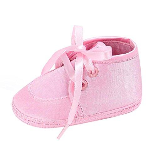 Pour 0-18 mois Bébé,Transer ® Bébé fille garçons Soft semelle chaussures anti-dérapant Sneaker Rose