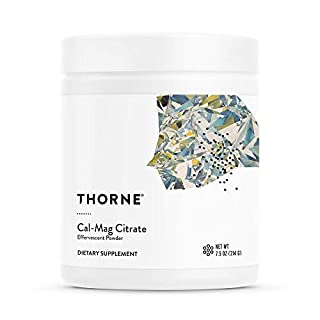 Thorne Research - Cal-Mag Citrate Effervescent Powder - Calcium + Magnesium Supplement w/ Vitamin C for Stress Relief - 7.5 oz