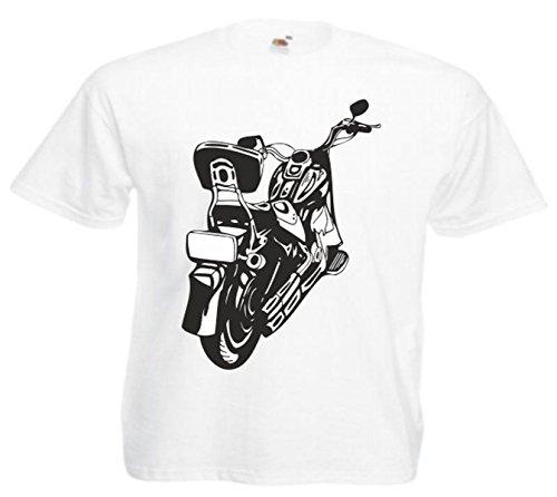 Motiv Fun T-Shirt Thunder Cycles Biker Route 66 Chopper Rocker Motiv Nr. 5019 Weiß