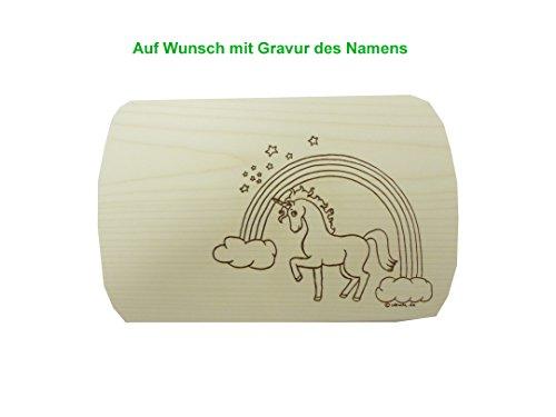 Frühstücksbrett Schneidebrett mit Gravur 24x15cm Einhorn Ahorn Holz