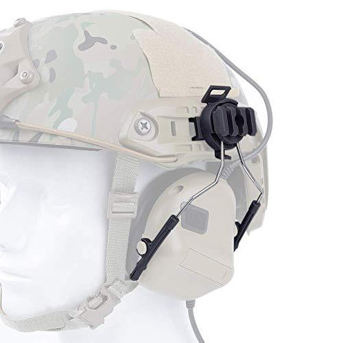 NICEWL Tactical Helmet Headphone Rail Adapter Kit, Fast Helmet Rail Aufhängung, Air Gun Paintball Jagdschießen Schutzausrüstung,Black -