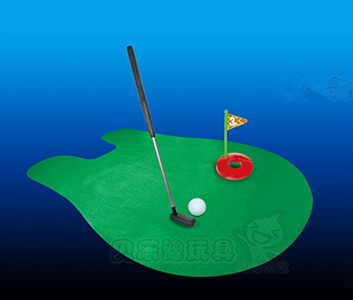 Kimberleystore Creative Putter Tapis de putting Golf Mini Toilette Jeu de golf