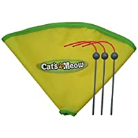 CYBERNOVA Replacement Spare Wand and Nylon Skirt for Cat's Meow Cat Toy