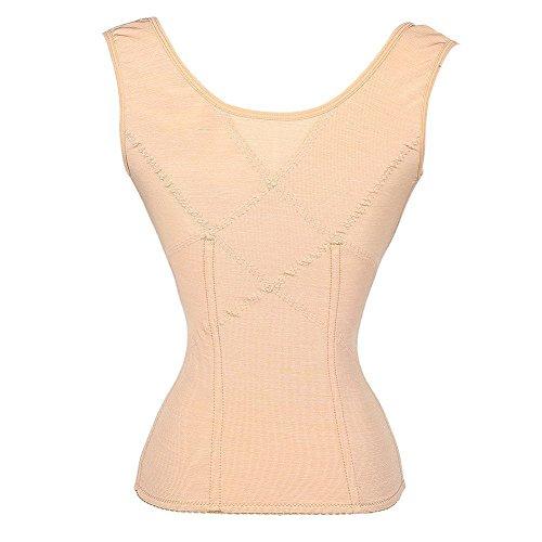 beitreten Damen Korsett Taille Training Body Shaper 3Haken Taille Cinchers Girdle Aprikose