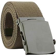FAMILIZO Cinturones Hombres Mujeres Moda Automática Cinturón De Nylon  Hebilla Ventiladores Cinturón De Lona Cinturones Elasticos b1c3b6d42ae9