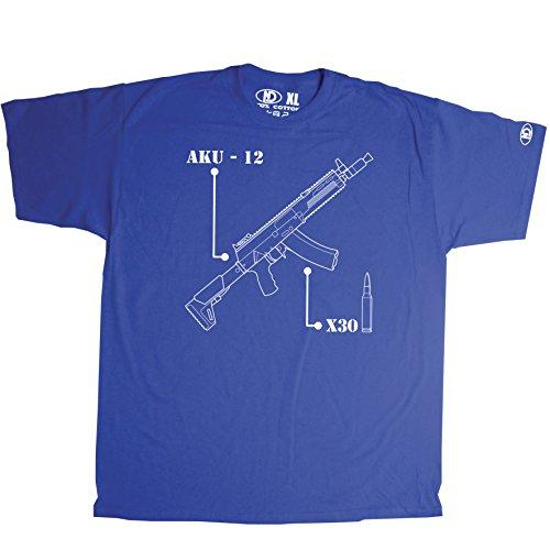 Nicram Designs Herren Rundhalsausschnitt T-Shirt Blau - Blau