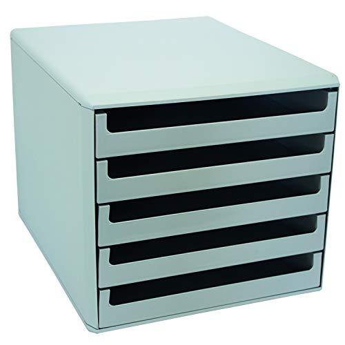 Metzger & Mendle 30050909 Schubladenbox mit 5 Schüben hellgrau
