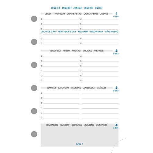 Exacompta 14212E Recharge pour Organiseur Exatime 14 Semainier Millésimé Semaine sur 2 Pages - 12.6 x 8.1 cm -Septembre 2019 à Décembre 2020