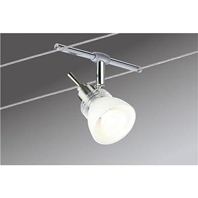 Paulmann 97111 Wire System Verbier 150 4x35W GU4 Eisen gebürstet/Opal 230/12V 150VA Metall/Glas von Paulmann Leuchten bei Lampenhans.de
