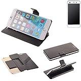K-S-Trade Schutz Hülle für Vestel V3 5570 Schutzhülle Flip Cover Handy Wallet Case Slim Handyhülle bookstyle schwarz
