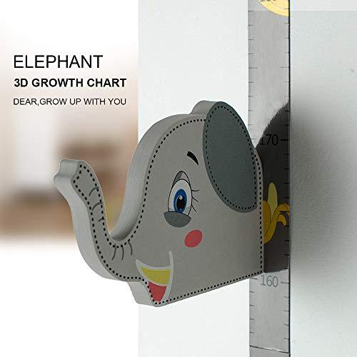 Wopeite Gráfico de crecimiento Elefante 3D, Medidor