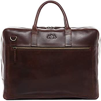 91bc6a74569ba SID   VAIN Laptoptasche echt Leder Dixon groß Businesstasche 15