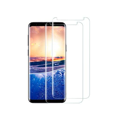 Kompatibel mit Galaxy S9 Schutzfolie Panzerglas, 2 Stück S9 Plus Displayschutz Panzerfolie Displayschutzfolie Gehärtetem Glass 9H Härtegrad 3D Curved Display für Galaxy S9+ (Transparent, Galaxy S9)