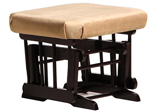 Dutailier Ottoman for Sleigh and 2 Post Gliders, Espresso/Light Brown