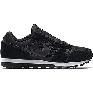 Nike Damen, Sneaker, Md Runner 2, Black (Black/Black-White), 40.5