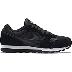 Nike Wmns Md Runner 2, Zapatillas Mujer, Negro (Black/Black-White), 38