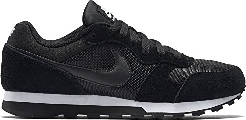 Nike Damen, Sneaker, Md Runner 2, Black (Black/Black-White), 39