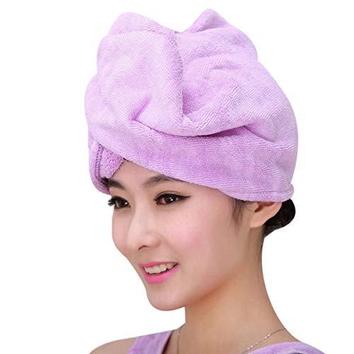 SimpleShow Store Toalla para el cabello Productos de baño Gorros de ducha de microfibra para cabello seco Ducha o auriculares para mujer Artículos de tocador verde naranja para niñas