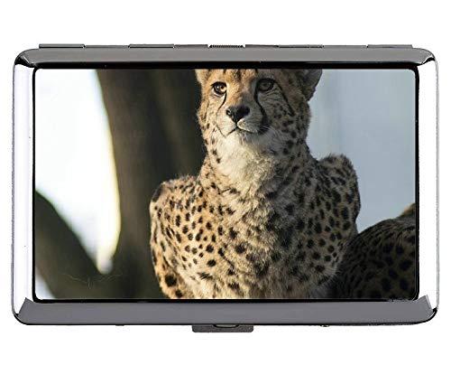 tah Wild Leopard Visitenkartenetui Edelstahl (Silber) ()