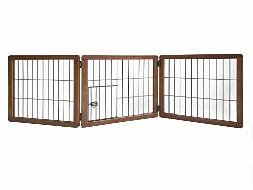 Carlson Pet Products 2066DS Design Paw 3Panel Holz Gate (Holz-tor Panel)