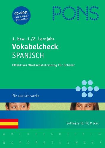 PONS Vokabelcheck Spanisch 1./2. Lernjahr