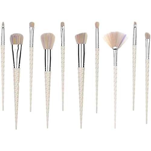maquillaje unicornio kawaii ttrwin 10pc Unicorn Fantasy Unicornio herramientas de maquillaje Fundación Sombra de Ojos Cepillos Kit de pinceles brochas de maquillaje juego de cepillos de maquillaje