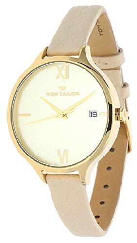 Tom Tailor Femmes Montre beige 5416003