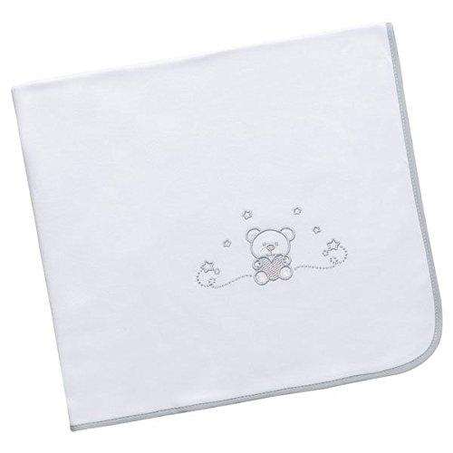 Arrrullo para bebé punto de algodón (80x80 cm) CUORE Blanco