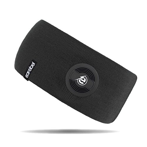 Earebel Lifestyle Slim Headband in Schwarz - kabellose Übertragung über Bluetooth ( Mit integriertem, kabellosen Bluetooth - Kopfhörern und integriertem Mikrofon zum Telefonieren ) Active-fit-ipod