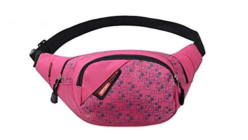 Slim Wasser Widerstand Sportliche Travel Taille Tasche - rose red