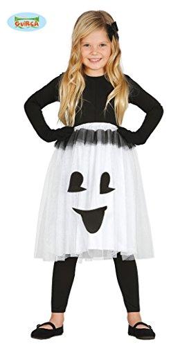 Kostüme Geist Mädchen (Geister Halloween Kostüm für Kinder kleines Gespenst Halloweenkostüm Mädchen Gr. 110-128,)