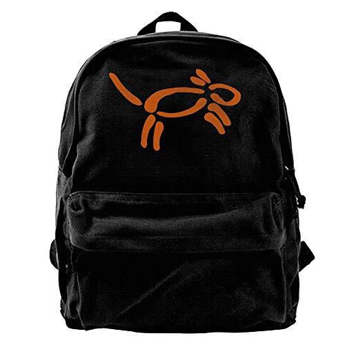 Voxpkrs Cute Girls School Canvas Backpack Laptop Shoulder Bag La-02 - Floral Drawstring Shoulder Bag