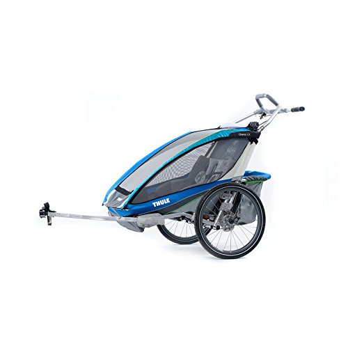 Thule Chariot CX 2 + Fahrradset blau 2017 Fahrradanhänger
