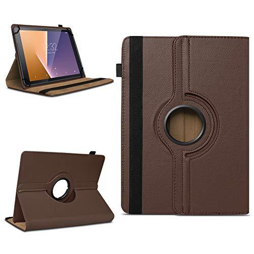 Tasche für Vodafone Tab Prime 7 Tablet Hülle Schutzhülle Case 360° Drehbar Cover, Farben:Braun