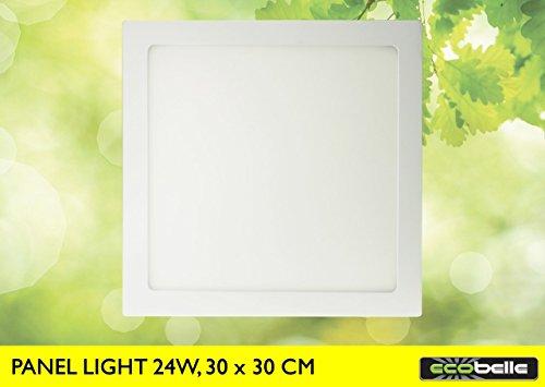 Ecobelle® Deckenleuchte LED Deckenleuchte 24 W, 2000 Lumen, Warmweiss 3000 K, Abmessungen: 30 x 30 cm (LED Treiber enthalten)