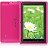 YUNTAB Tablette tactile enfant Q88 Tablette 7'' IPS Allwinner A33 Rose Quad Core 8 GB Tablette Android 4.4 support externe TF carte