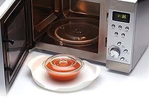 Kitchen Craft KCMTRAY Plateau Micro-Ondes, Plastique, Blanc, 20 cm, 9 x 12 x 16 cm