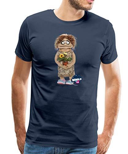 Spreadshirt Wiwaldi Und Co Charming Traudl Männer Premium T-Shirt, L, Navy