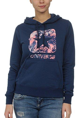 Converse Graphic Boxstar Pullover Hoodie Sweatshirt, Damen, Blau (Navy)