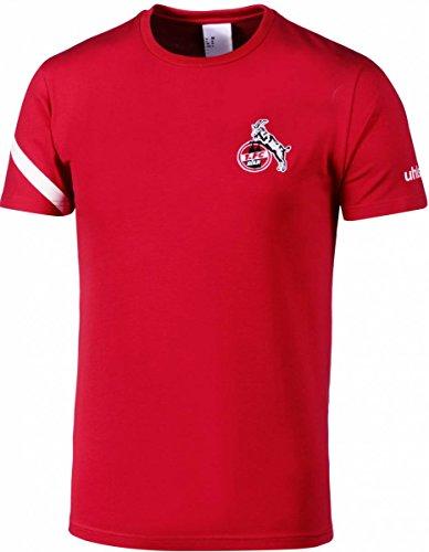 uhlsport 1. FC Köln Essential Pro T-Shirt Herren weiß/rot, XXL