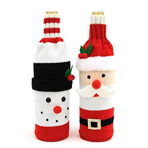 Cute Christmas Sweater - Funda botella vino, hecha