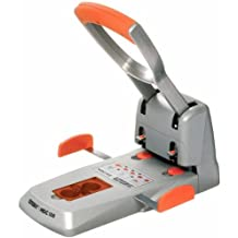 Superlocher HDC150, Grauguss, 150 Blatt, silber/orange